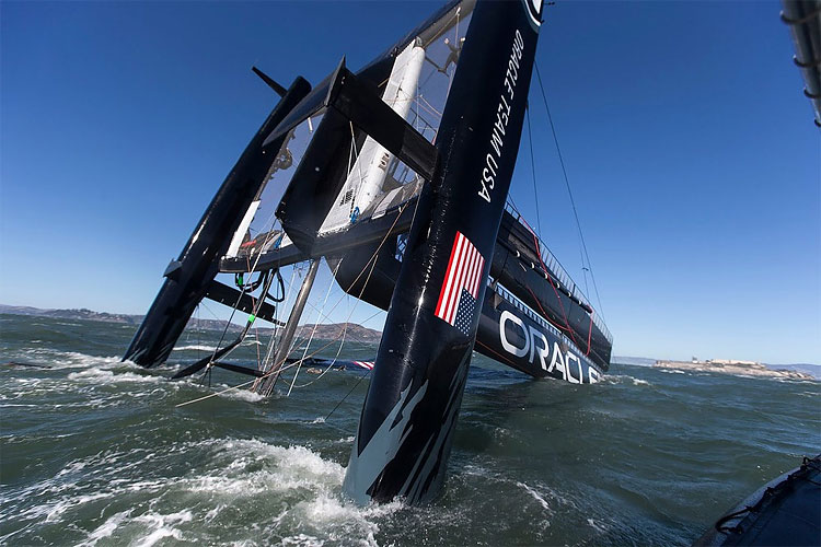 1139 Oracle Team USA Capsizes its Biggest, Baddest Boat