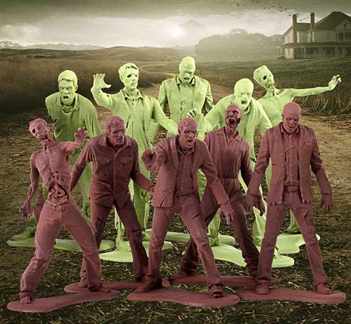 80292 2 The Walking Dead Zombie Army Men Figures