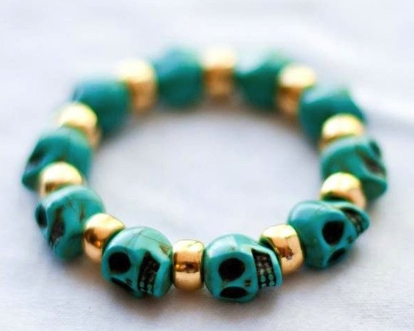 Bad to the Bone Turquoise Bracelet1 Bad to the Bone Turquoise Bracelet