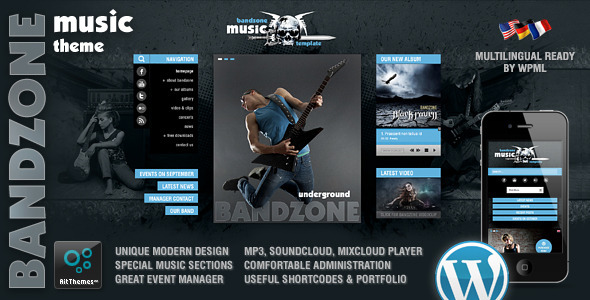 Bandzone Wordpress Theme made by Musicians  Newest Wordpress Themes You Must check