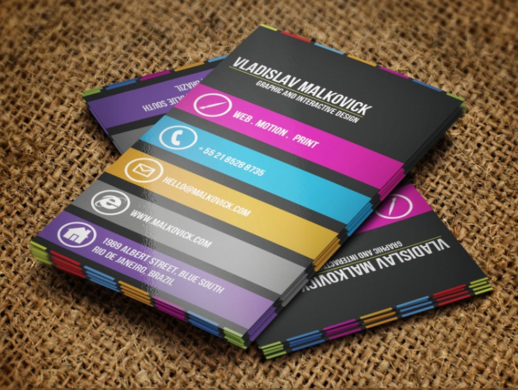 Logo design bizz latest business card design trends in 2013 contrasting business card designs reheart Image collections