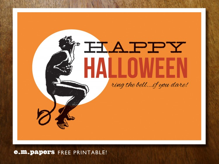 HalloweenPoster2 1000px 750x562 Free Printable Halloween Mini Poster From e.m.papers
