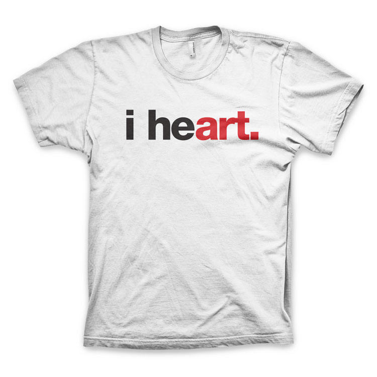 "I HEART ART WORDSBRAND TEE ""i heart"" American Apparel Unisex Fleece Zip Hoodie by WORDS BRAND™"