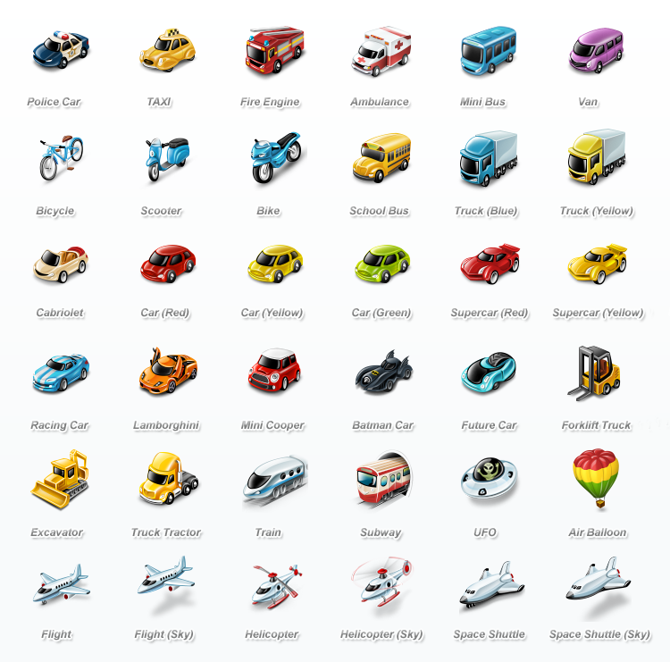 Untitled 1 45 Really Cute Transportation Icons