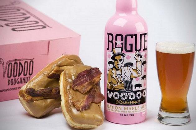Voodoo Doughnut Bacon Maple Ale by Rogue Ales11 Voodoo Doughnut Bacon Maple Brown Ale