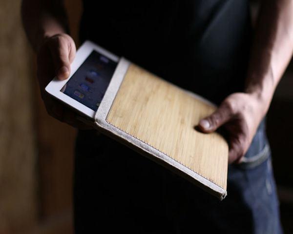 Wool Felt Bamboo iPad Sleeve1 Wool Felt Bamboo iPad Sleeve