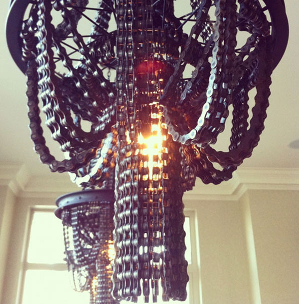 Chandeliers Made From Bicycle Chains