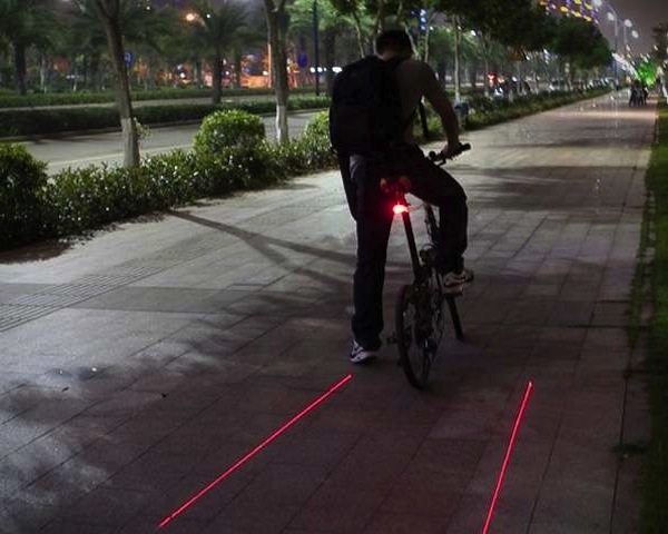 bicycle lane laser tail light 1 Bicycle Laser Tail Lights
