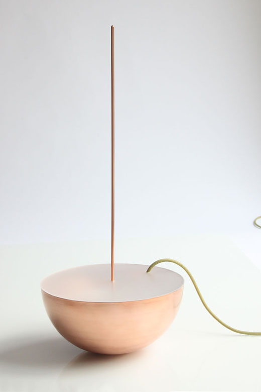 boeing 2 Copper lamp by Sebastian Goldschmidtböing