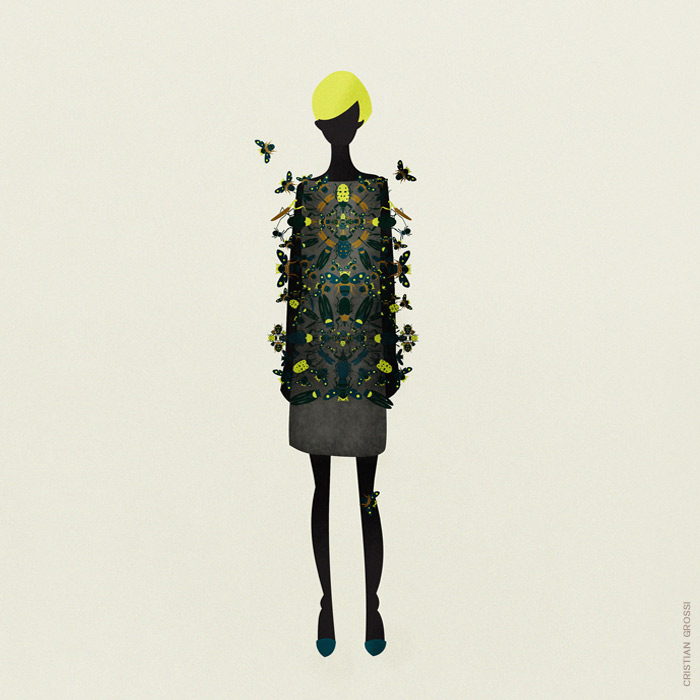 cristian grossi contemporary artist fashion 5 cool illustrations by the talented artist Cristian Grossi