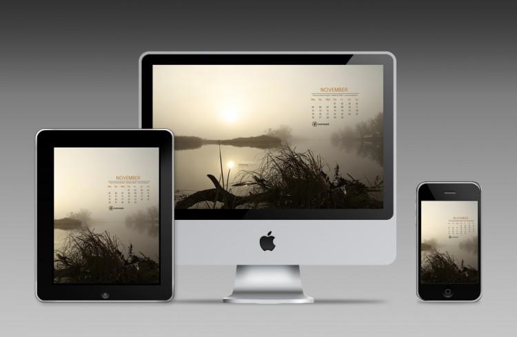 desktop examples november 750x489 Free Desktop Calendar – November 2012