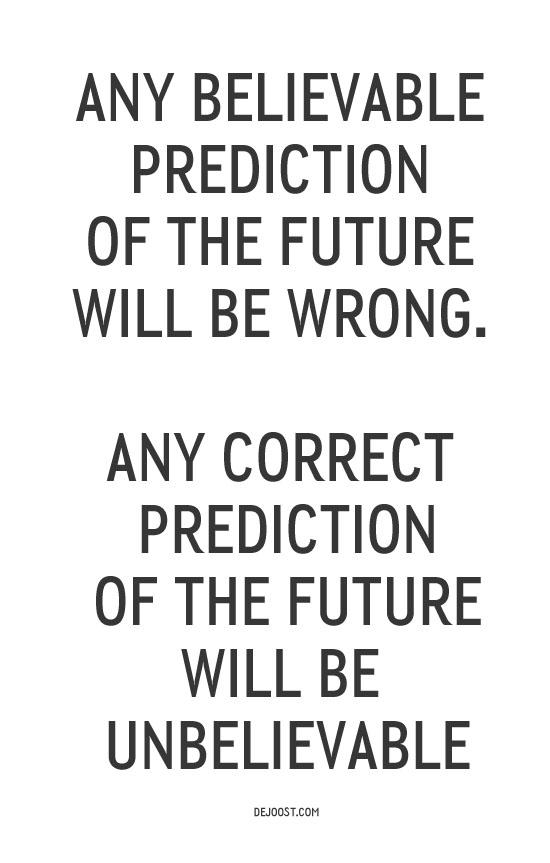 future Futurist's Dillema