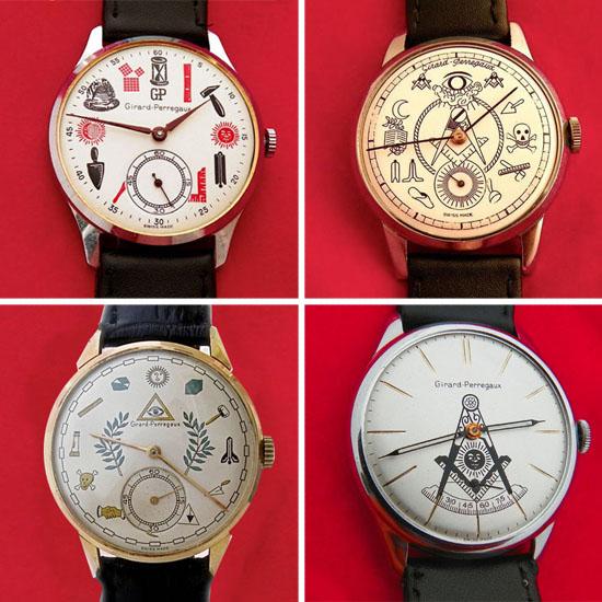 girard perregaux 0 Vintage Girard Perregaux Masonic Watches