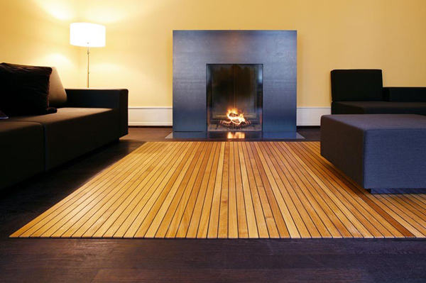 A Wood Floor That Can Roll Up Like a Carpet