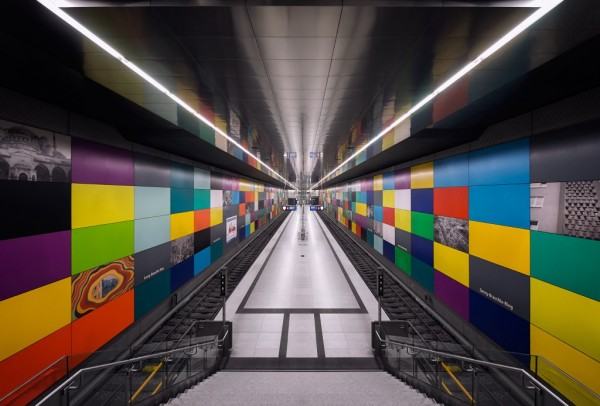 subway by nick frank 3 600x406 Lighting Design: The Incredible Munich Subway