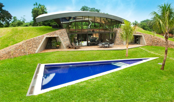 Two Homes Built Into the Landscape in Paraguay