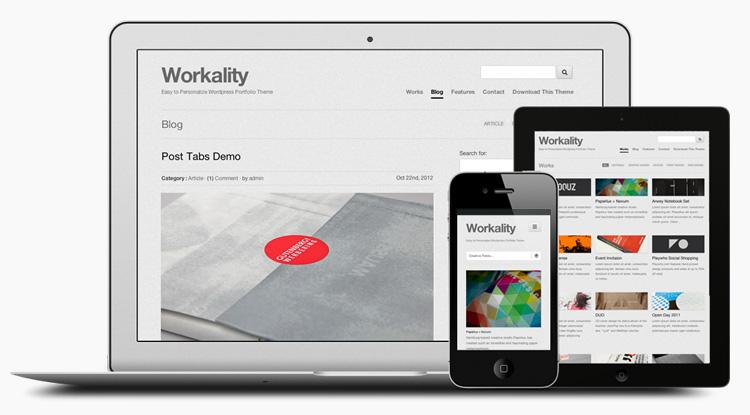 web 12 Free Responsive WordPress Theme for Creative People