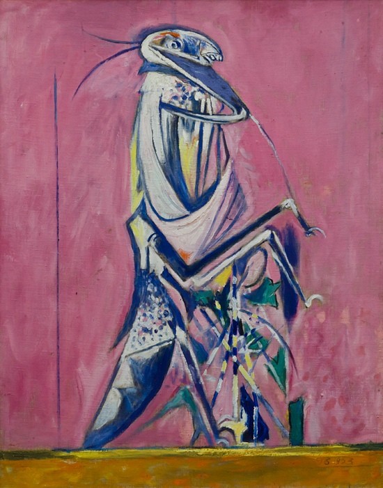 01 Graham Sutherland Mantis 1953 olio su tela riportata su faesite SUTHERLAND   The painter who unmasked nature
