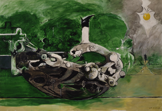 09 Graham Sutherland Poised Form in a Landscape 1969 olio su tela SUTHERLAND   The painter who unmasked nature