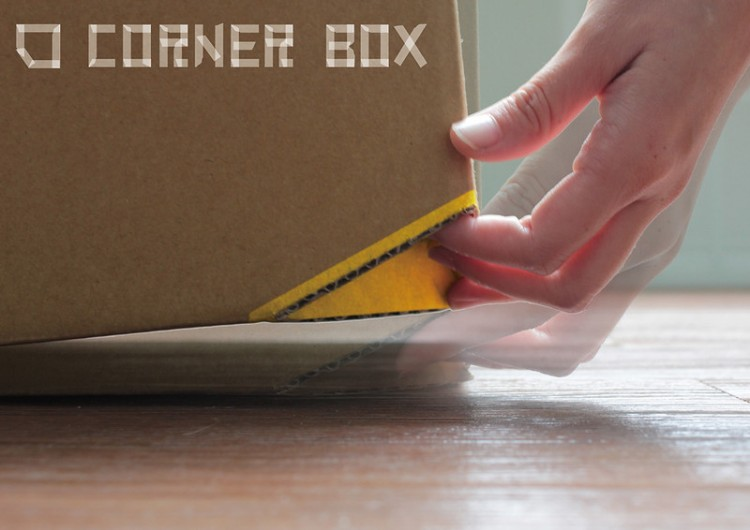 1671184 inline corner box01 05 1 750x530 Corner Box, a simple twist to the cardboard box makes it more useful