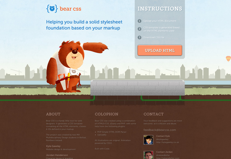 Bear CSS Landing Page Designs for Inspiration