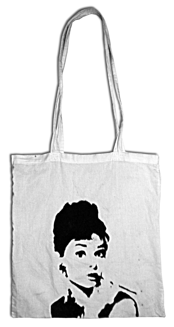 Beutel Audrey Redu1 Audrey Hepburn at BagForMercy   the tote bag blog.