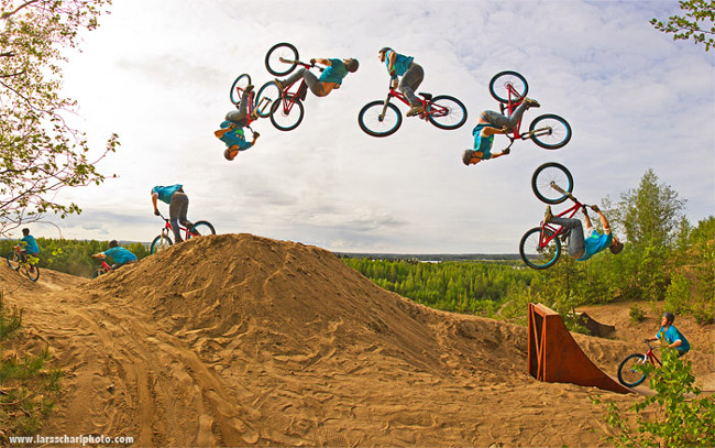 Bike1 Dangerous Motorbike Stunts, Photography By LARS SCHARL