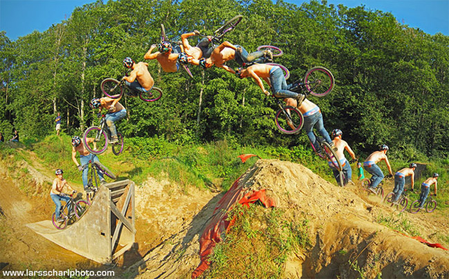 Bike9 Dangerous Motorbike Stunts, Photography By LARS SCHARL
