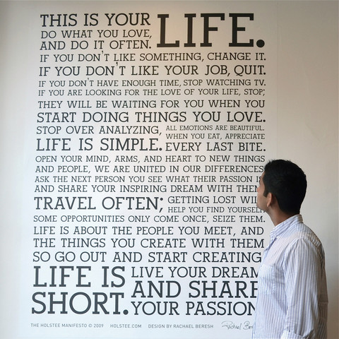 Holstee Manifesto Wall Decal Perspective 2 large Holstee Manifesto Wall Decal