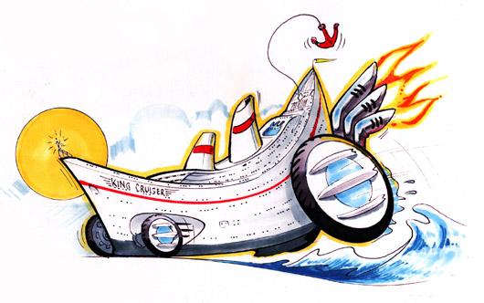 Hugesters2 KingCruiser copy1 Really Wacky Rides by Fireball Tim