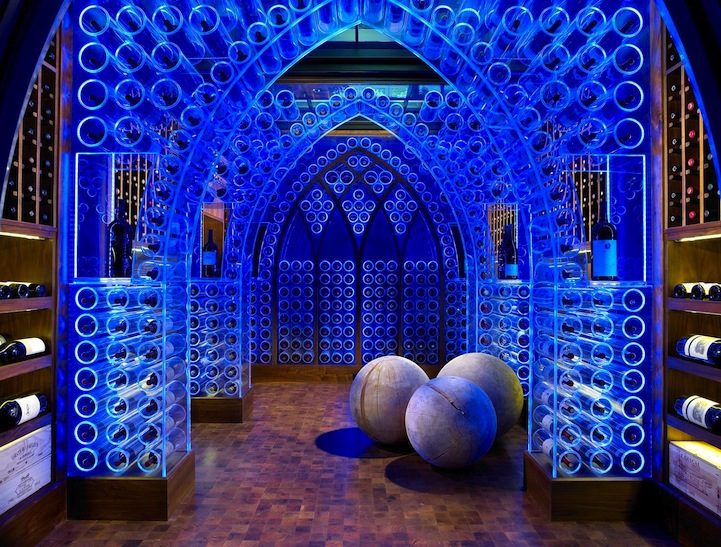 JamieBeckwith1 Futuristic Wine Cellar Illuminated by LED Lights