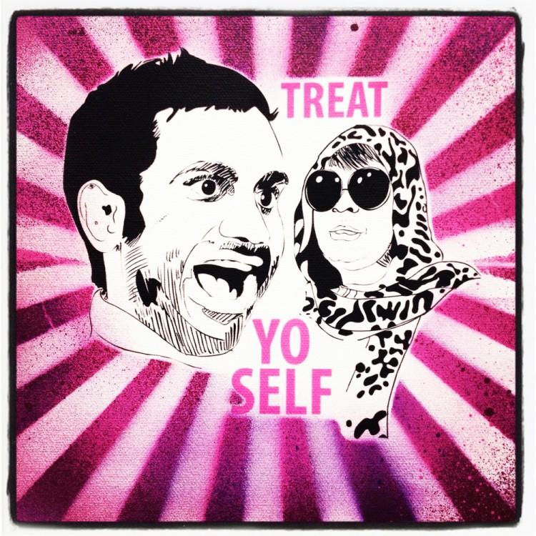 Pink treat yo self by Peachyapricot 750x750 Pop Art by PeachyApricot