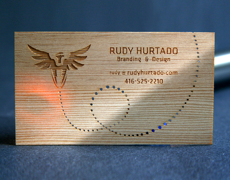 Rudy Laser cards 4 40+ Wooden Business Cards Collection