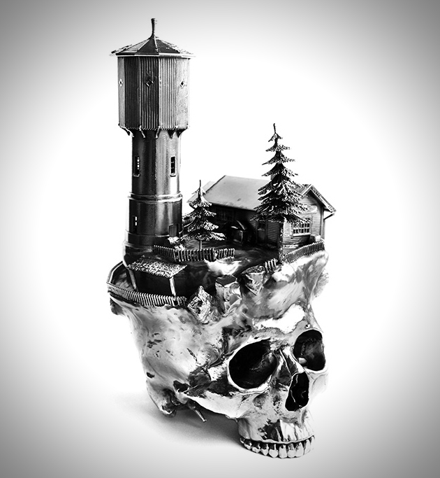 Skull Frodo Mikkelsen Presents Amazing Skull Sculpture Collection