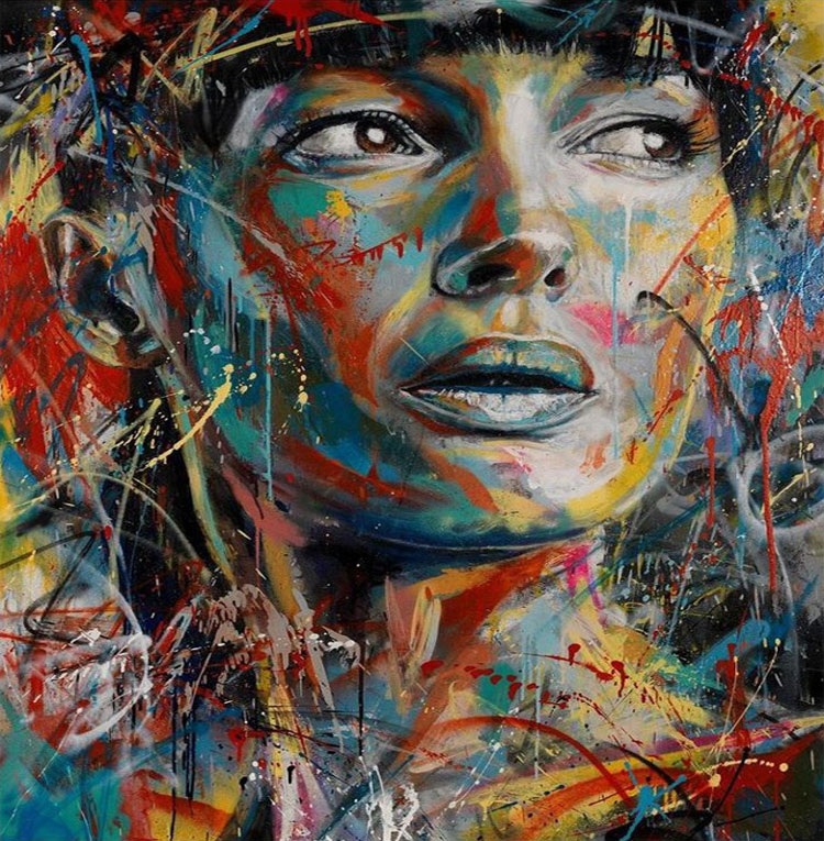 Spray Painted Portrait by David Walker Spray Painted Portraits by David Walker