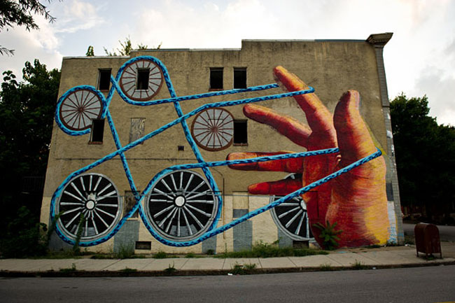 Street Art13 Marvelous Street Art Murals By Stefan Bacigal