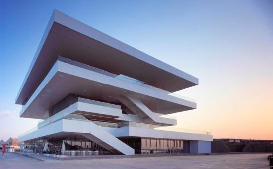 americas cup building valencia spain Unique Architecture by David Chipperfield