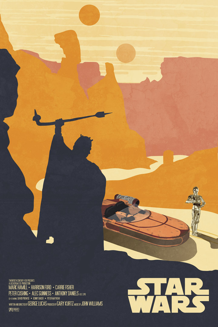 anhposter2 Limited Edition Star Wars Original Trilogy Poster Prints   Created by Drew Roberts of Lynx Collection