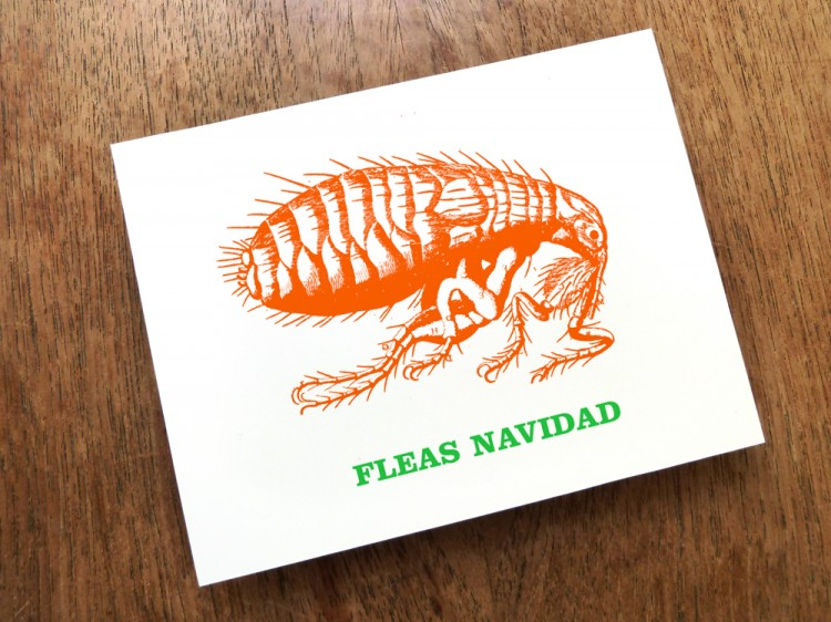 fleasnavidad full 1000px 750x562 Printable Christmas Card: Fleas Navidad