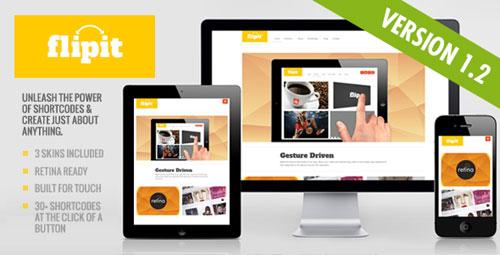 flipit responsive wordpress theme 40 High Quality Responsive Retina Display Ready WordPress Themes