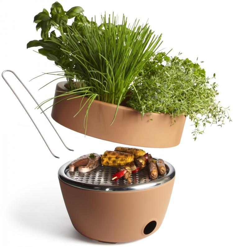 hot pot bbq03 750x795 Herb Garden BBQ: Better Grilling through Design