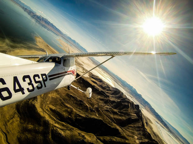 media of the day 20120120 wiley plane saltlake 00313 Sensational Photos & Videos Taken with a GoPro Camera