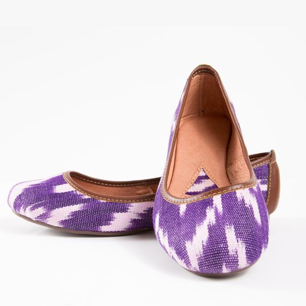 purpleflats Handcrafted Ballet Flats Support Artists Communities in Guatemala