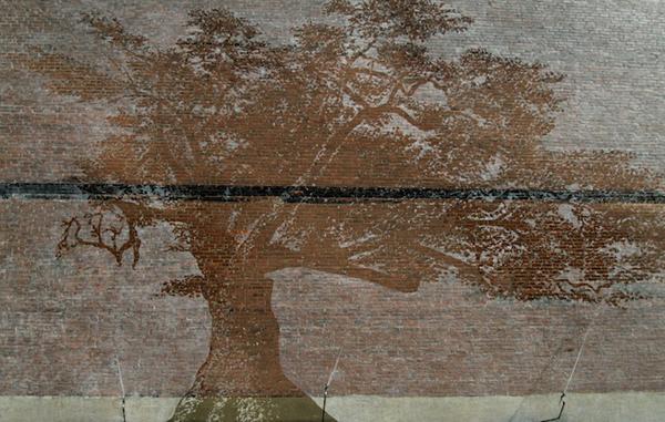 rain art adam nilewicz 1 Hidden Mural Reveals Itself When it Rains