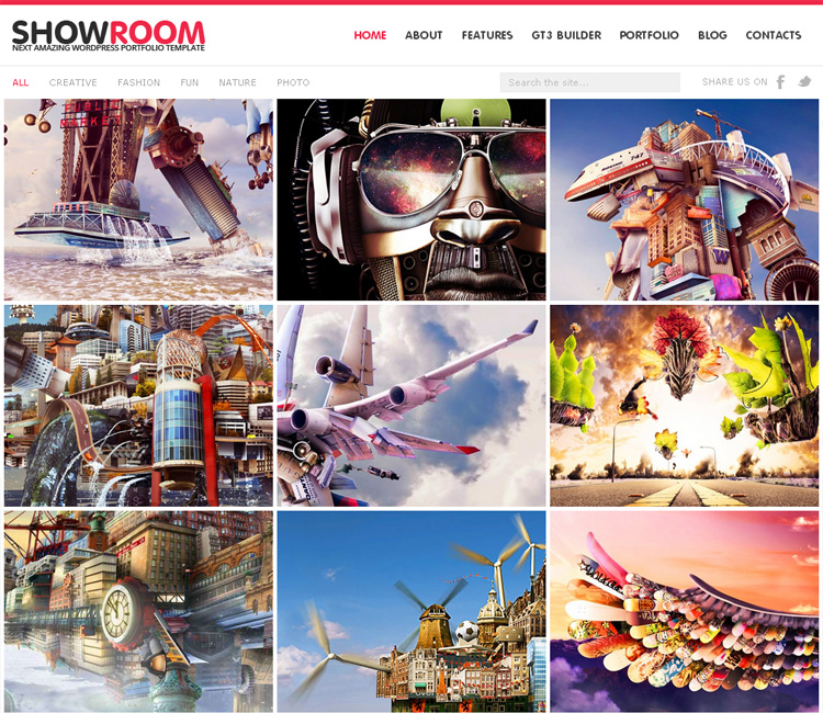 showroom 20 Fresh and Premium WordPress Themes