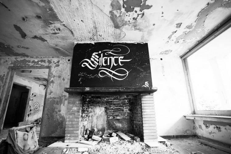 simon silaidis sectiongraphix designwars calligraphy silence 750x500 Urban Calligraphy by Simon Silaidis