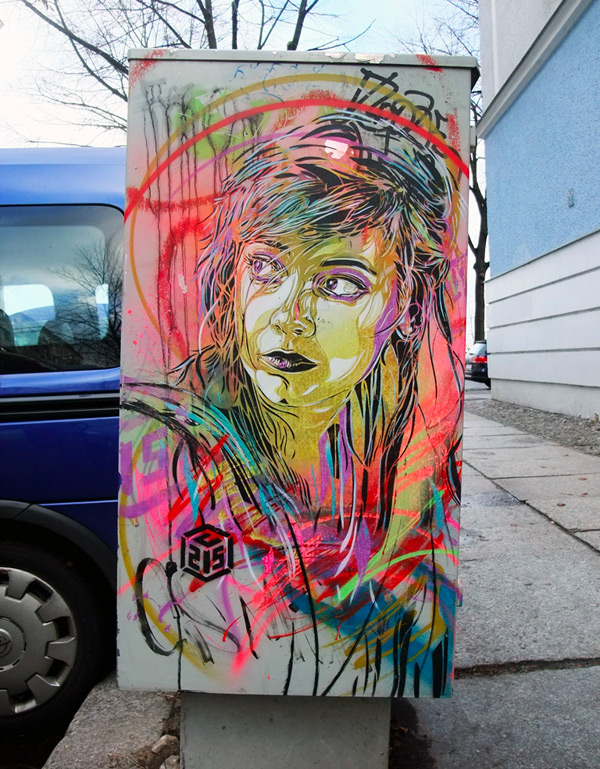 stencil street art c215 2 Stencil Art by Street Artist C215