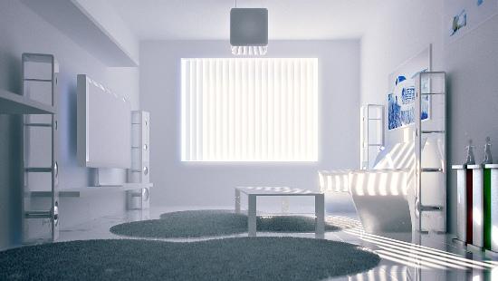 white room How to lighten a dark room