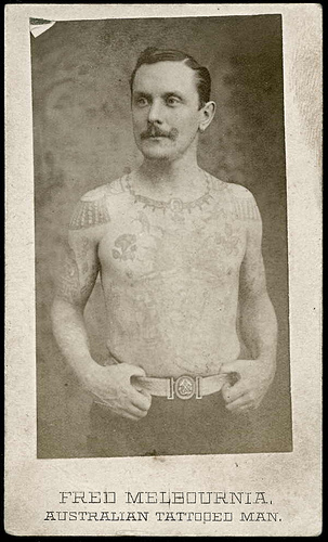 2 Fred Melbournia front Tattoos in Australia from between c.1857 & c.1948