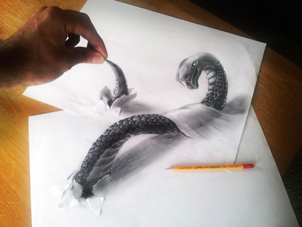 3D by Ramon Bruin 21 3D Pencil Drawing By Ramon Bruin